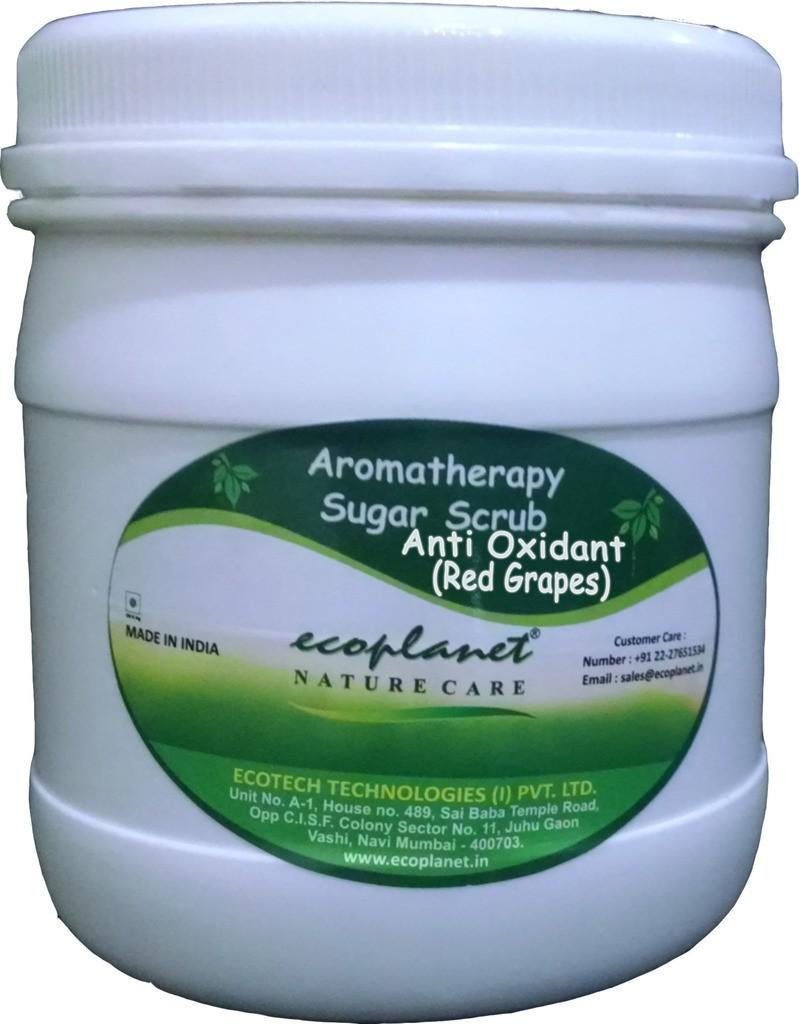 Ecoplanet Aromatherapy Sugar Base Anti Oxidant (Red Grapes) Scrub(1000 g)