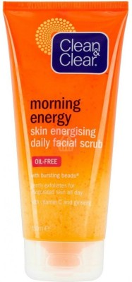 Clean & Clear Morning Energy Skin Energising Daily Facial Scrub(Imported Made In France) Scrub(151 ml)