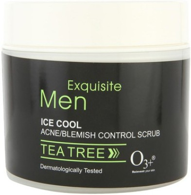O3+ Exquisite Men Ice Cool Acne/ Blemish Control  Scrub