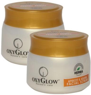 Oxyglow Apricot & Jojoba Facial Pack of 2 Scrub