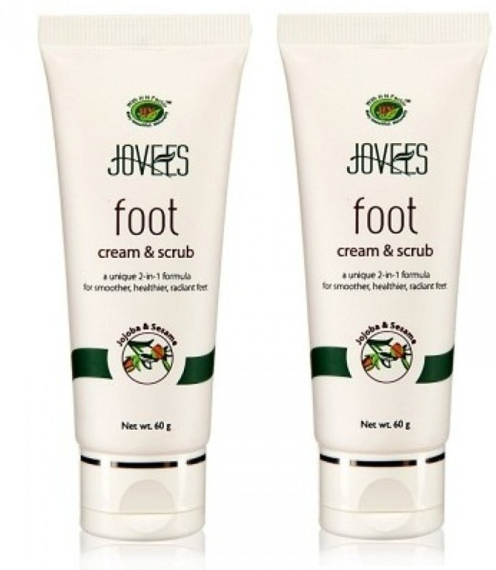 Jovees Foot Cream & (Pack of 2) Scrub(120 g)