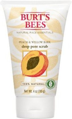 Burt s Bees Peach And Willowbark Deep Pore  Scrub