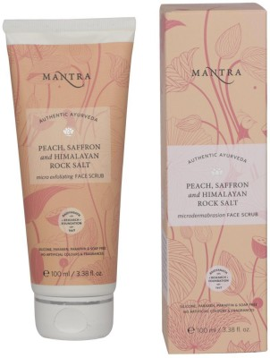 Mantra Peach & Saffron Himalayan Rock Salt Micro Exfoliating Face  Scrub