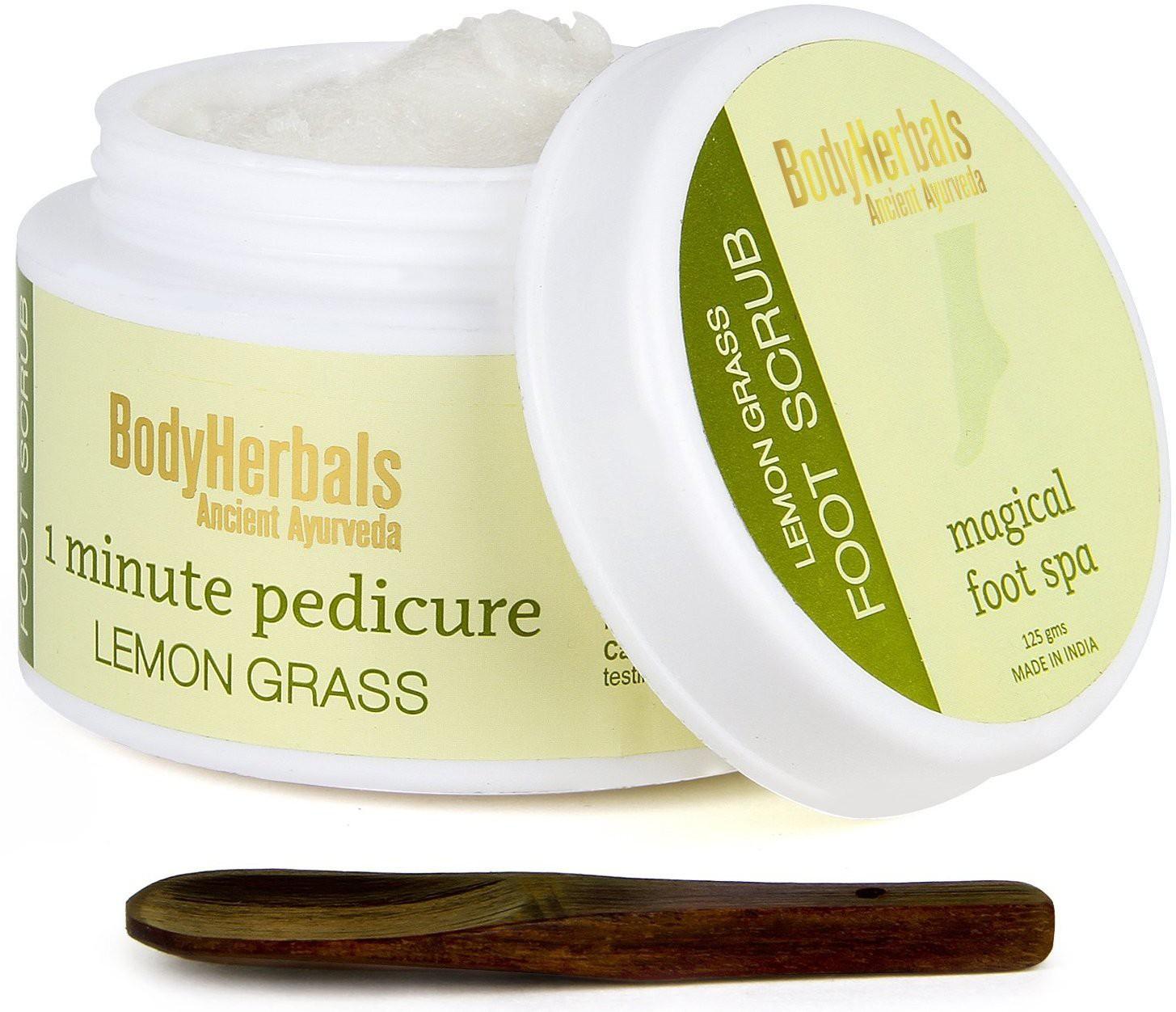 BodyHerbals Lemongrass Foot Scrub, 1 Minute Pedicure Scrub(125 g)