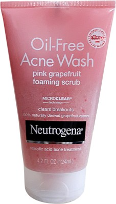 Neutrogena Oil-Free Acene Wash Pink Grapefruit Foaming Scrub