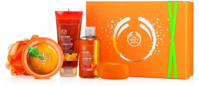 The Body Shop Shower Scrub And Soften Collection Satsuma Scrub