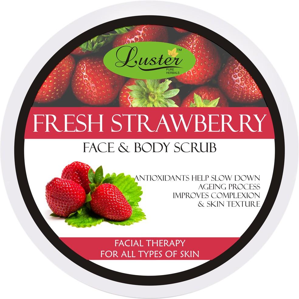 Luster Fresh Strawberry Face & Body  Scrub(400 g)