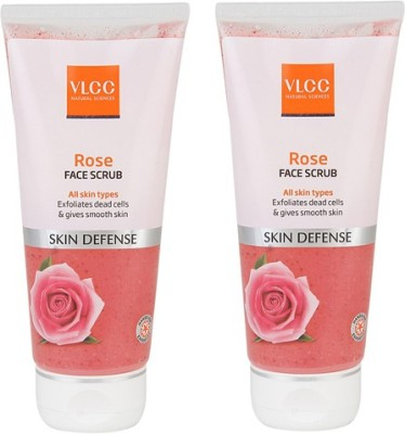 VLCC Rose Face Pack of 2 Scrub
