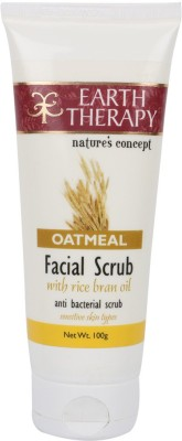 EARTH THERAPY Oatmeal With Rice Bran Oil Facial Scrub