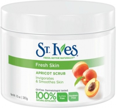 St Ives Fresh Skin Apricot Invigorates And Smoothes Skin(Made In U.S.A) Scrub