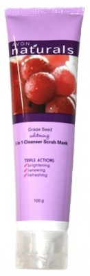 Avon Grape Seed Whitening 3 in 1 Cleanser Mask Scrub