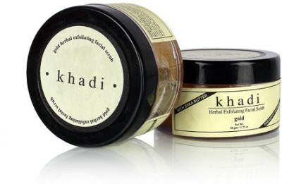 khadi Natural Herbal Exfoliating Gold Facial Scrub - Twin Pack Scrub
