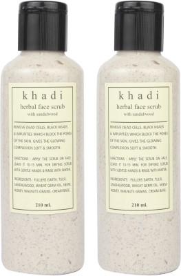 Khadi Natural Sandalwood In A Bottel Pack Of 2 Scrub