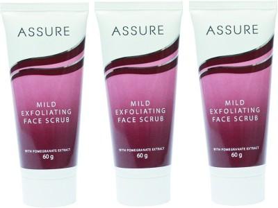 Assure Mild Exfoliating Face Scrub (Pack of 3) Scrub