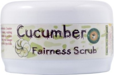 Adidev Herbals Natural Cucumber Clear Complexion Whitening Face  Scrub