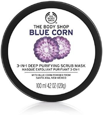 The Body Shop Blue Corn In 1 Deep Cleansing Scrub Mask Scrub(120 g)