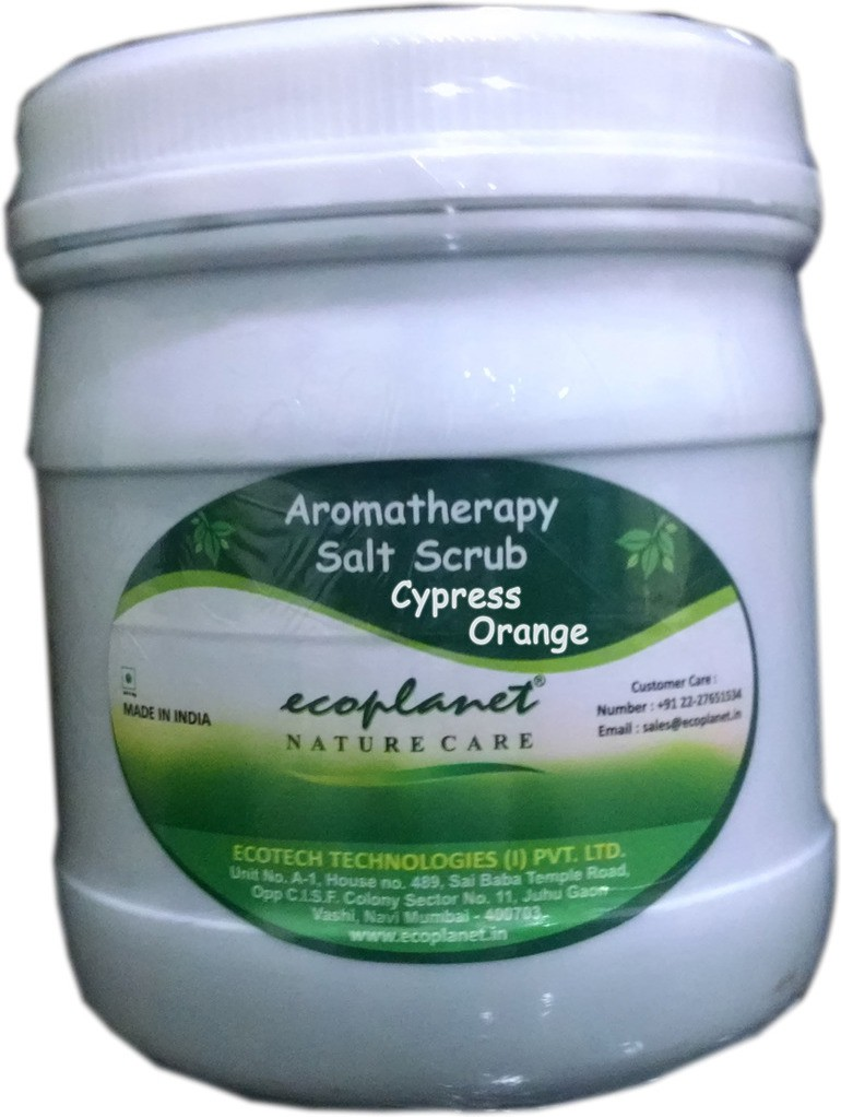 Ecoplanet Aromatherapy Salt Base Cypress Orange Scrub(1000 g)