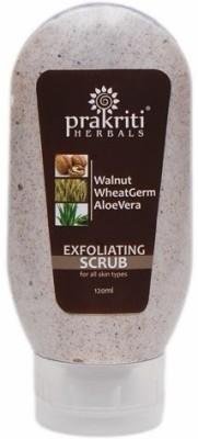 Prakriti Herbals Exfoliating Walnut Wheatgerm Aloevera  Scrub