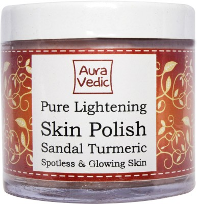 Auravedic Pure Lightening Skin Polish with Sandal Turmeric Scrub