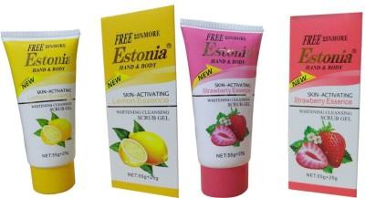 Estonia strawberry&lemon face n body cleansing gel Scrub
