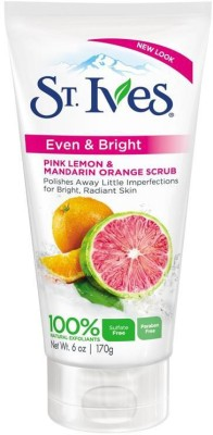 St. Ives Even & Bright Pink Lemon & Mandarin Orange Scrub(Imported Made In USA) Scrub(170 g)