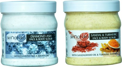 Skinatura diamond ash & sandal turmeric face & body cream Scrub(500 ml)