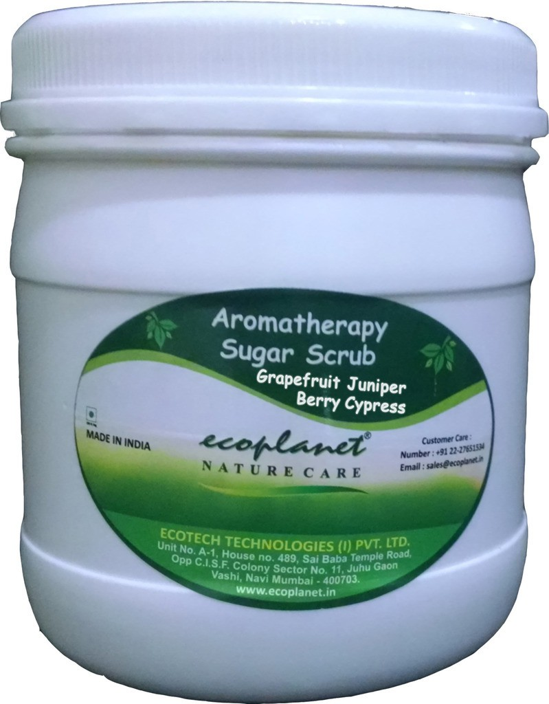 Ecoplanet Aromatherapy Sugar Base Grapefruit Juniper Berry Cypress Scrub(1000 g)