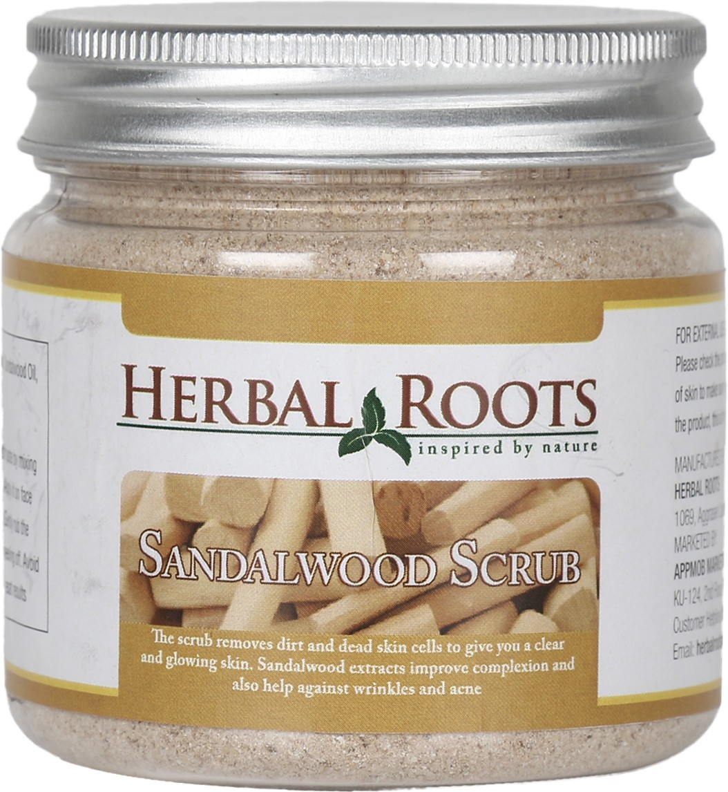 Herbal Roots Skin Care 100% Natural Beauty Product - Sandalwood Face and Body Scrub(100 g)