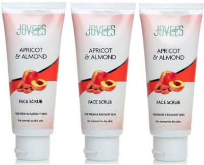 Jovees Facial Scrub Apricot & Almond (Pack of 3) Scrub