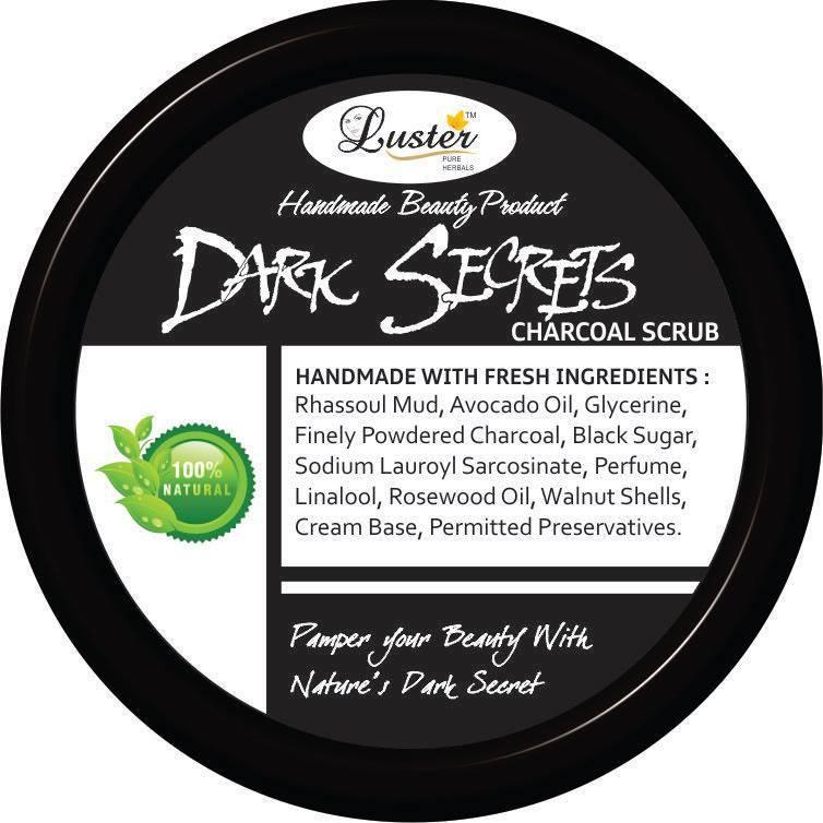 Luster Dark Secrets Charcoal Scrub(100 ml)
