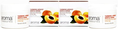 Aroma Treasures Turmeric Apricot Gentle Scrub 50g (Pack Of 2) Scrub