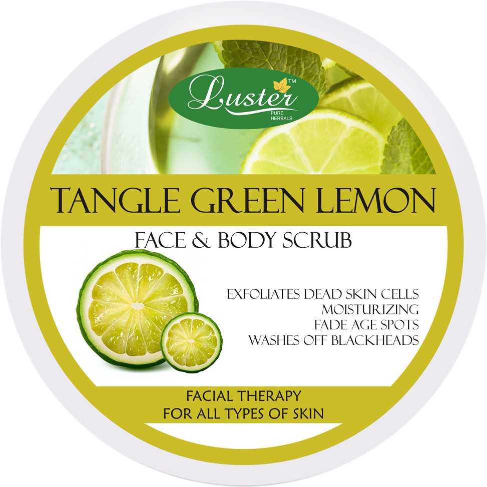 Luster Tangle Green Lemon Face & Body  Scrub(400 g)
