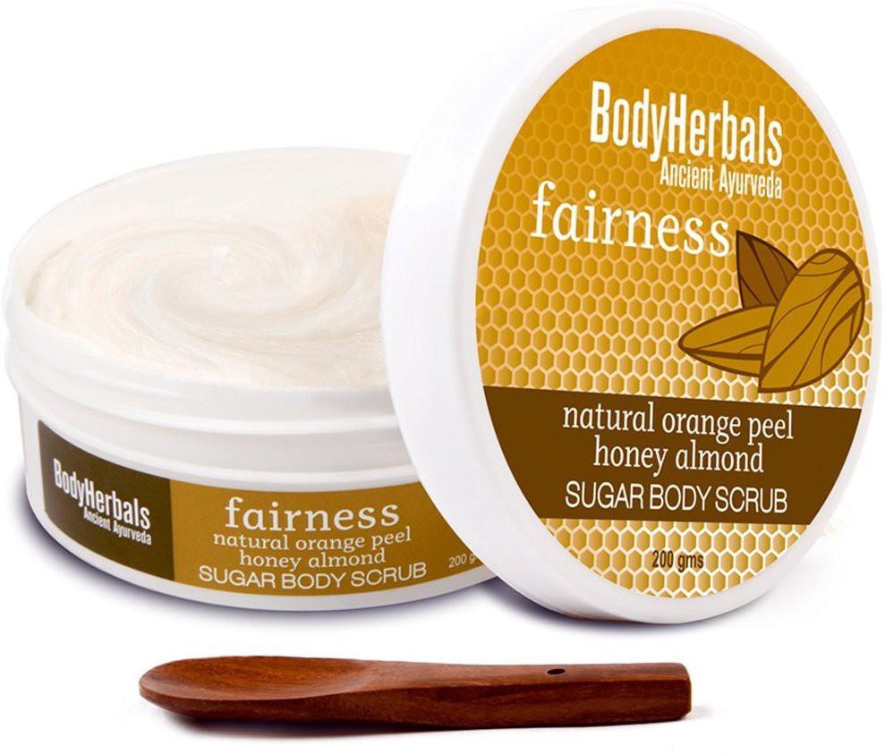 BodyHerbals Fairness, Orange Peel Honey Almond Sugar Body  Scrub(200 g)