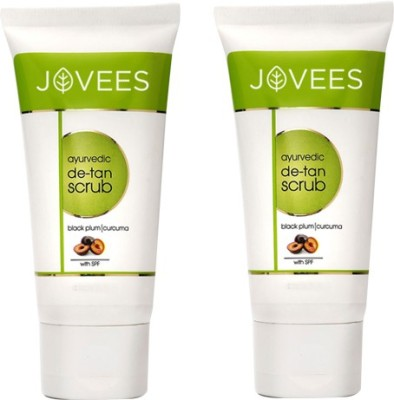 Jovees Ayurvedic De-tan Pack of 2 Scrub(50 g)