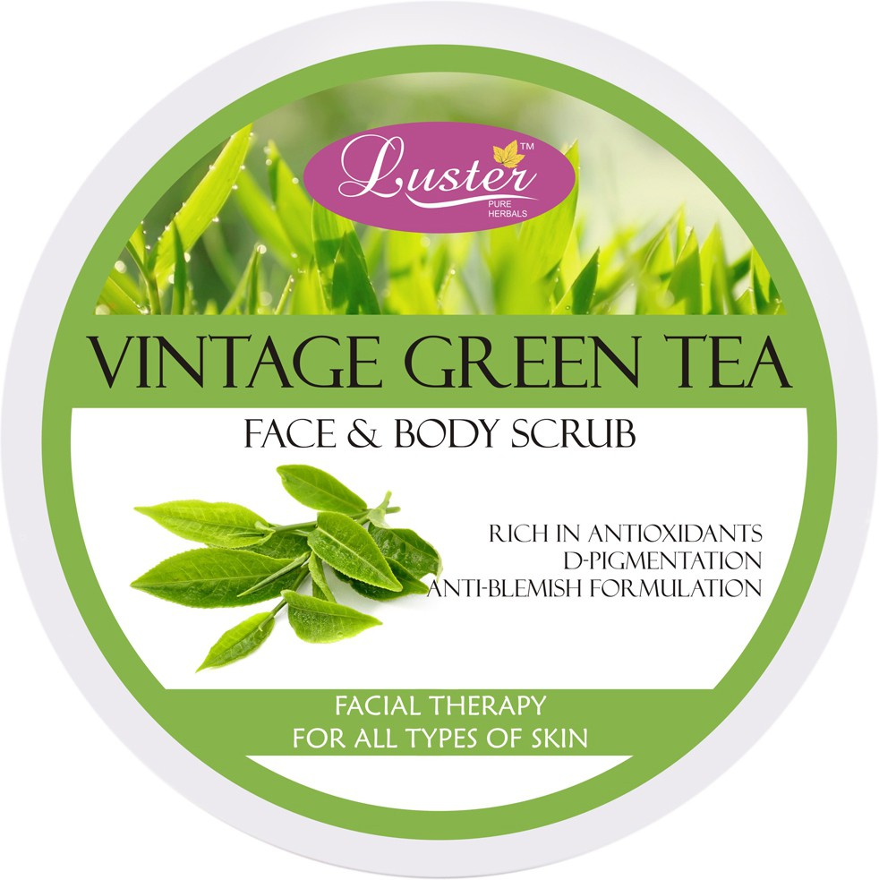 Luster Vintage Green Tea Face & Body  Scrub(400 g)