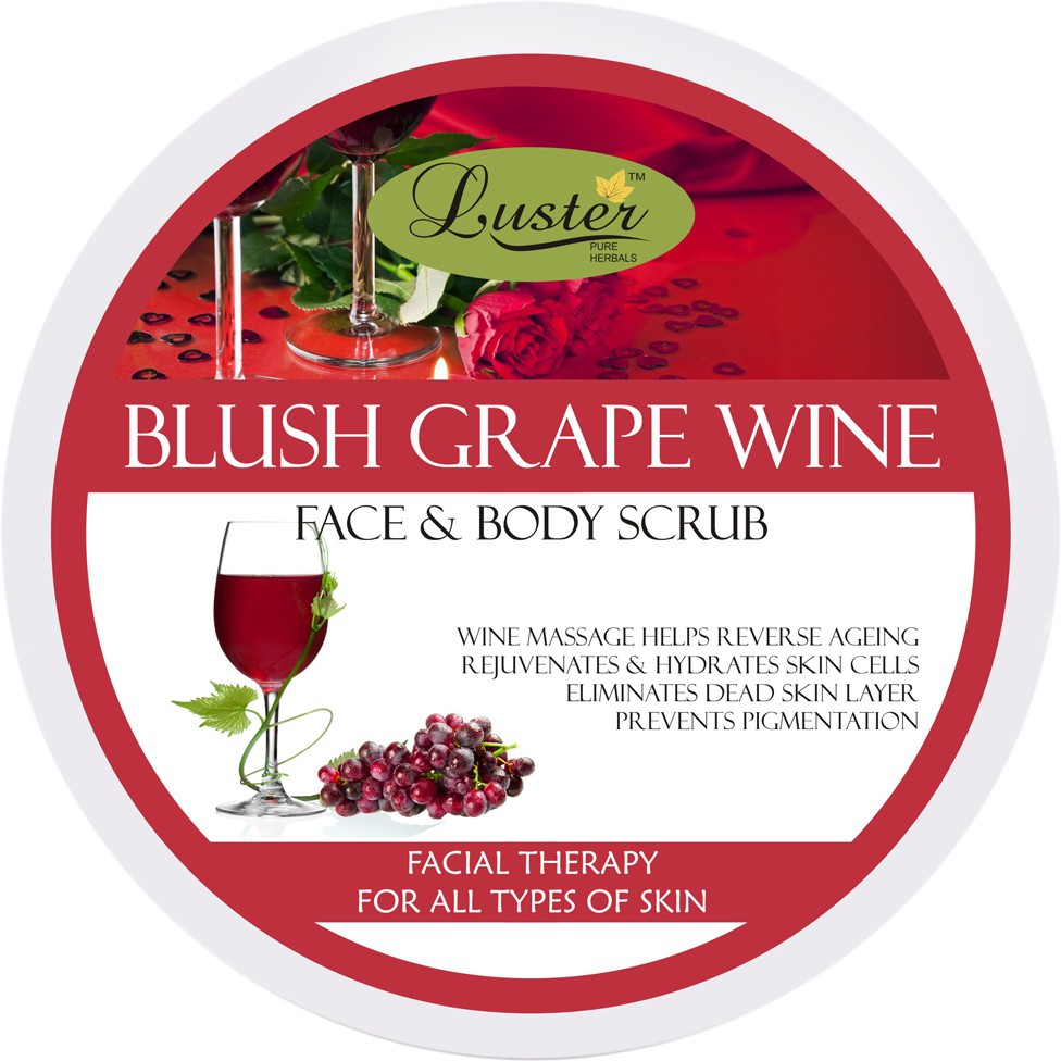 Luster Blush Grape Wine Face & Body  Scrub(400 g)