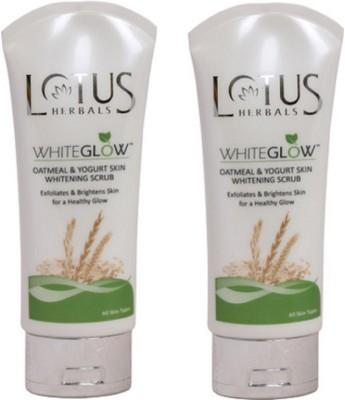 Lotus Herbals Whiteglow Oatmeal & Yogurt Skin Whitening Scrub
