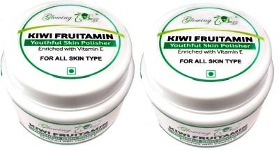 Glowing Buzz Pack of 2 Kiwi Fruitamin Youthful Skin Polisher  Scrub