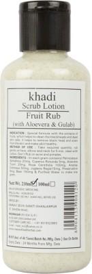 Khadi Manav Herbal Lotion Fruit Rub with Aloevera & Gulab Scrub