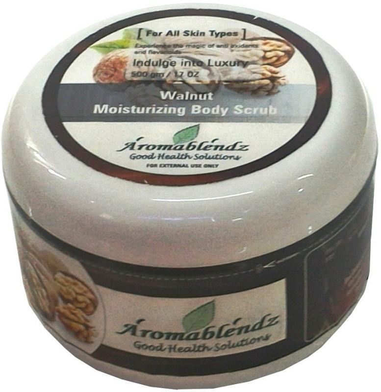 Aromablendz Walnut Moisturizing Body  Scrub(500 g)