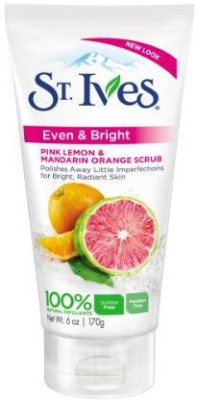 St. Ives Even And Bright Pink Lemon And Mandarin Orange  Scrub(170 g) at flipkart
