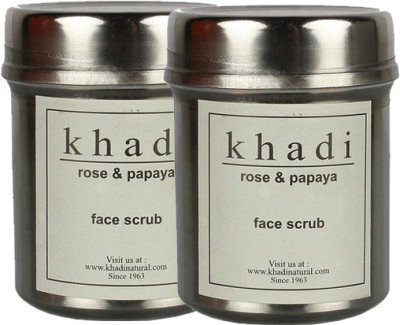 khadi Natural Rose & Papaya Face Scrub - Pack of Two Scrub
