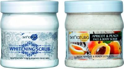 Skinatura whitening & apricot peach scrub (pack of two) Scrub(500 ml)