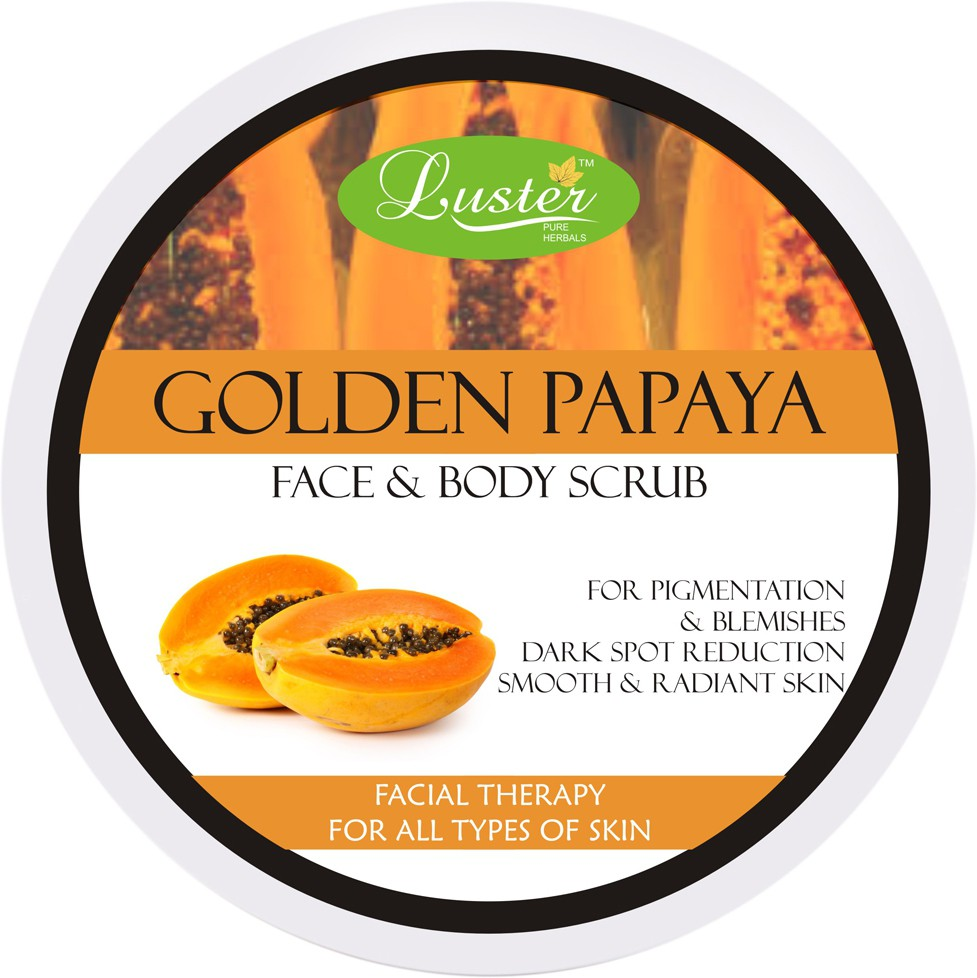 Luster Golden Papaya Face & Body  Scrub(400 g)
