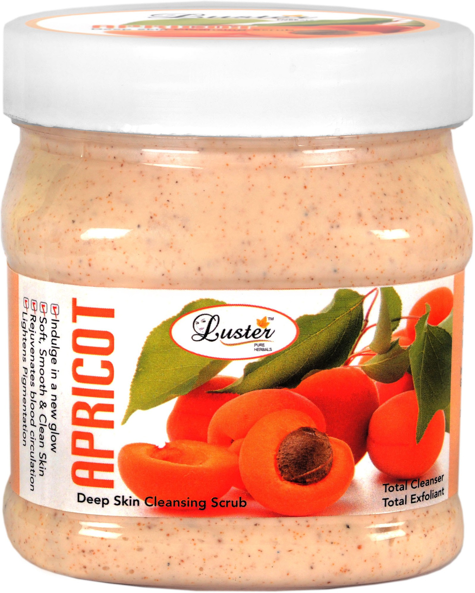 Luster Apricot Face & Body  Scrub(500 ml)