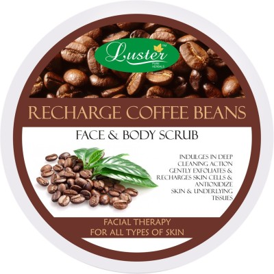 Luster Recharge Coffee Beans Face & Body Scrub