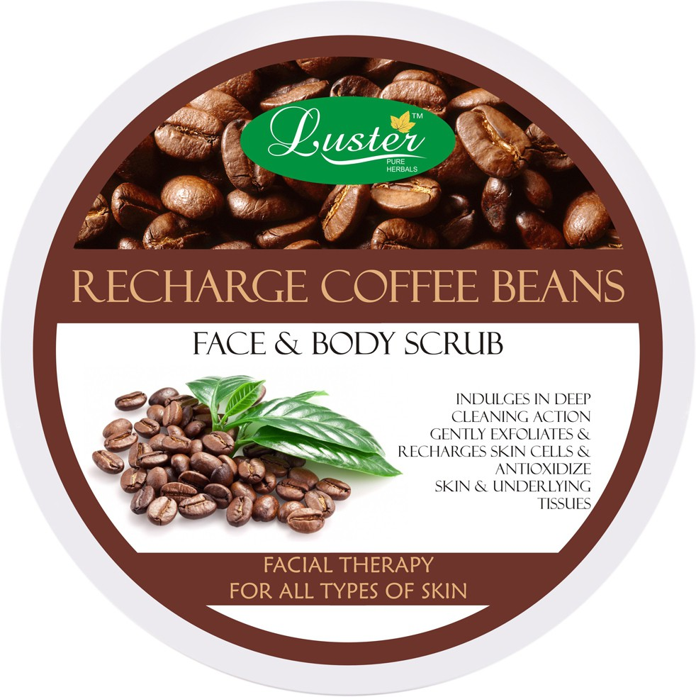 Luster Recharge Coffee Beans Face & Body  Scrub(400 g)