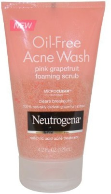 Neutrogena Oil-free Acne Wash Foaming Scrub Pink Grapefruit Scrub(125 ml)