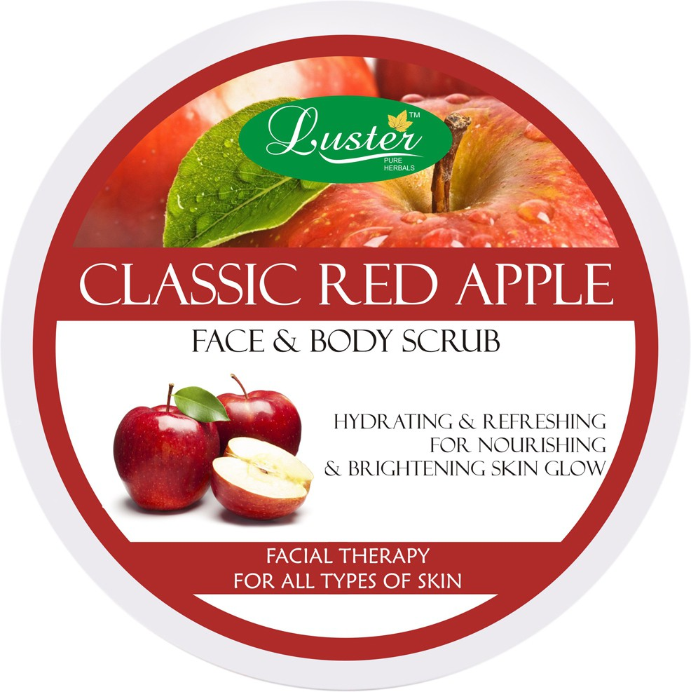 Luster Classic Red Apple Face & Body  Scrub(400 g)