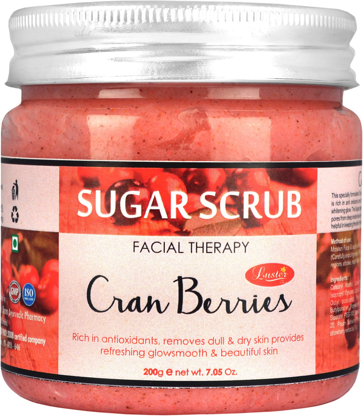 Luster Cranberries Sugar  Scrub(200 g)